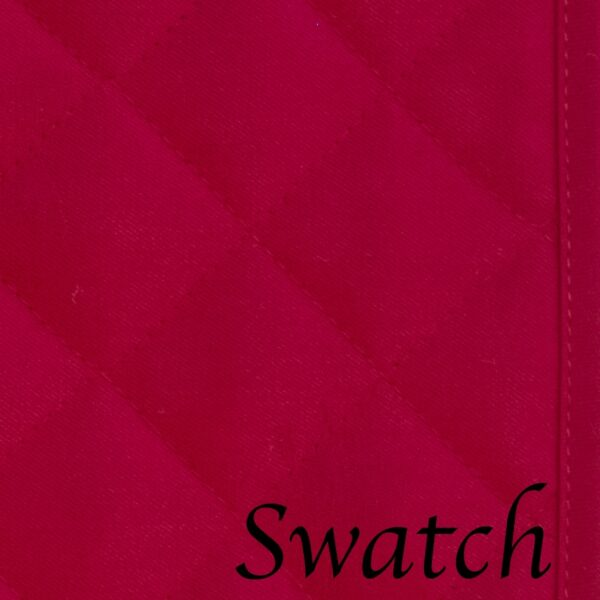 Sweet Pea Linens - Solid Red Quilted Jacquard 72 inch Table Runner (SKU#: R-1024-Y4) - Swatch