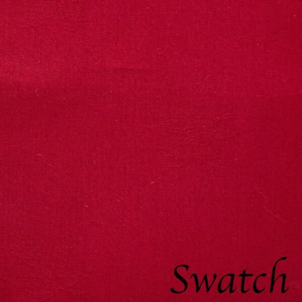 Sweet Pea Linens - Solid Red Jacquard 90 inch Round Table Cloth (SKU#: R-1065-Y4) - Swatch