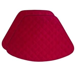 Sweet Pea Linens - Red Cobblestone Quilted Jacquard Wedge-Shaped Placemats - Set of Two (SKU#: RS2-1006-Y40) - Product Image