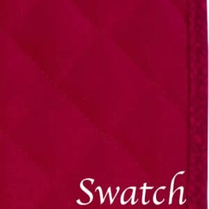 Sweet Pea Linens - Red Cobblestone Quilted Jacquard Wedge-Shaped Placemats - Set of Two (SKU#: RS2-1006-Y40) - Swatch