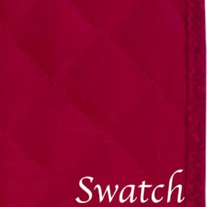 Sweet Pea Linens - Red Cobblestone Quilted Jacquard Rectangle Placemats - Set of Four plus Center Round-Charger (SKU#: RS5-1001-Y40) - Swatch
