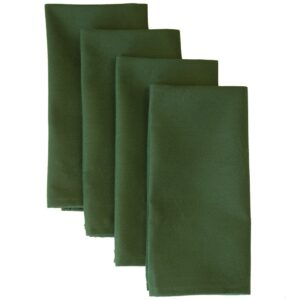 Sweet Pea Linens - Solid Green Rolled Hem Jacquard Cloth Napkin (SKU#: R-1010-Y5) - Product Image