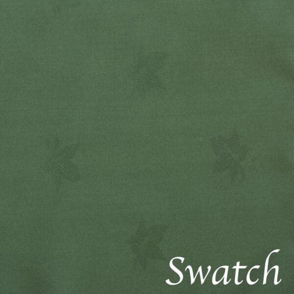 Sweet Pea Linens - Solid Green Rolled Hem Jacquard Cloth Napkin (SKU#: R-1010-Y5) - Swatch