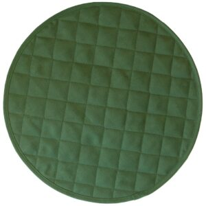 Sweet Pea Linens - Solid Green Quilted Jacquard Charger-Center Round Placemat (SKU#: R-1015-Y5) - Product Image