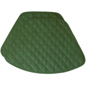 Sweet Pea Linens - Solid Green Quilted Jacquard Wedge-Shaped Placemats - Set of Two (SKU#: RS2-1006-Y5) - Product Image