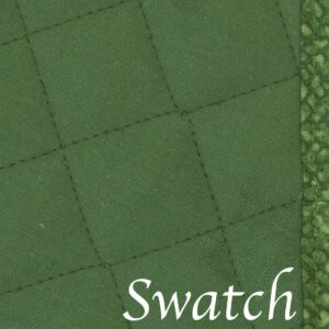 Sweet Pea Linens - Green Cobblestone Quilted Jacquard Wedge-Shaped Placemats - Set of Two (SKU#: RS2-1006-Y50) - Swatch