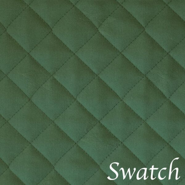 Sweet Pea Linens - Solid Green Quilted Jacquard Wedge-Shaped Placemats - Set of Four plus Center Round-Charger (SKU#: RS5-1006-Y5) - Swatch