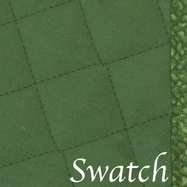 Sweet Pea Linens - Green Cobblestone Quilted Jacquard Wedge-Shaped Placemats - Set of Four plus Center Round-Charger (SKU#: RS5-1006-Y50) - Swatch