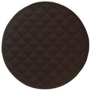 Sweet Pea Linens - Solid Black Quilted Charger-Center Round Placemat (SKU#: R-1015-Y6) - Product Image