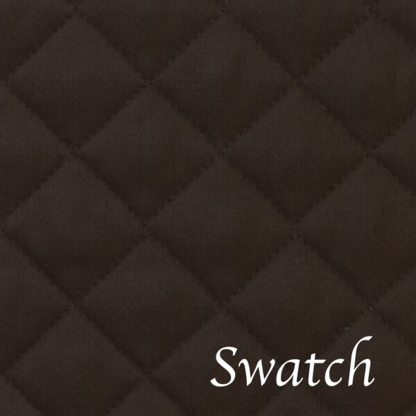 Sweet Pea Linens - Solid Black Quilted Charger-Center Round Placemat (SKU#: R-1015-Y6) - Swatch