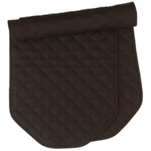 Sweet Pea Linens - Solid Black Quilted 60 inch Table Runner (SKU#: R-1021-Y6) - Product Image