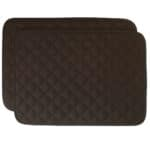 Sweet Pea Linens - Solid Black Quilted Rectangle Placemats - Set of Two (SKU#: RS2-1001-Y6) - Product Image