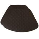 Sweet Pea Linens - Solid Black Quilted Wedge-Shaped Placemats - Set of Two (SKU#: RS2-1006-Y6) - Product Image