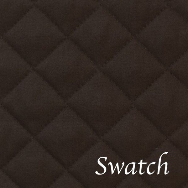 Sweet Pea Linens - Solid Black Quilted Wedge-Shaped Placemats - Set of Two (SKU#: RS2-1006-Y6) - Swatch
