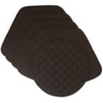 Sweet Pea Linens - Solid Black Quilted Wedge-Shaped Placemats - Set of Four plus Center Round-Charger (SKU#: RS5-1006-Y6) - Product Image