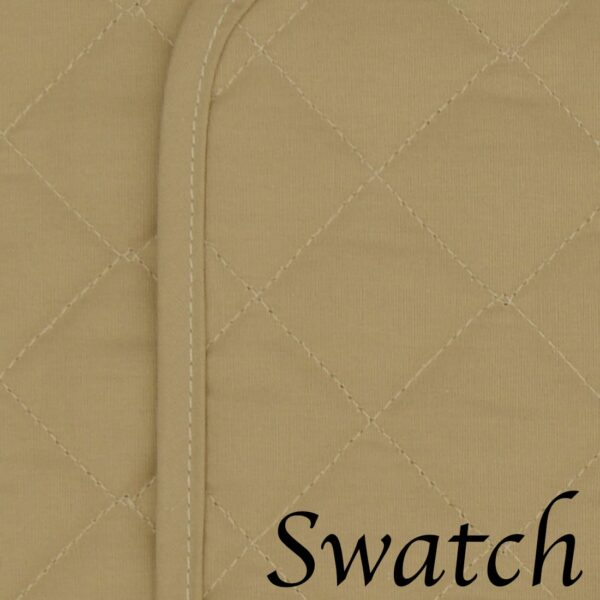 Sweet Pea Linens - Solid Khaki Tan Quilted Rectangle Placemats - Set of Two (SKU#: RS2-1001-Y7) - Swatch