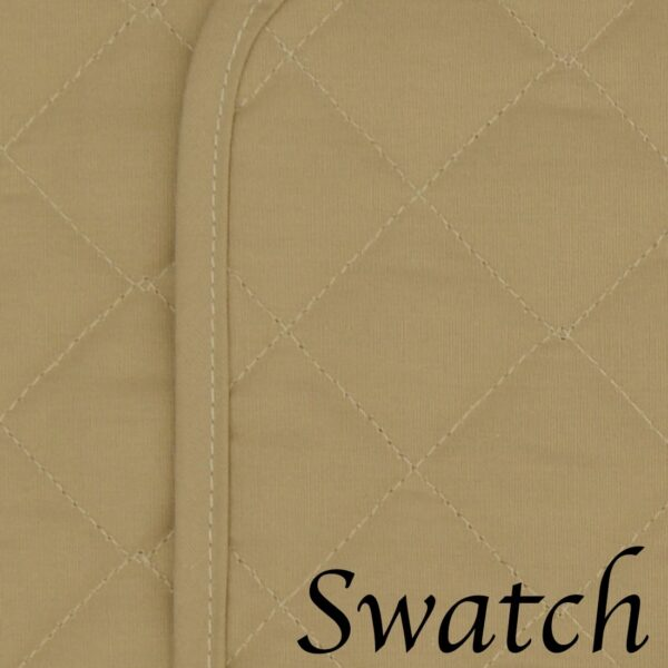 Sweet Pea Linens - Solid Khaki Tan Quilted Rectangle Placemats - Set of Four plus Center Round-Charger (SKU#: RS5-1001-Y7) - Swatch