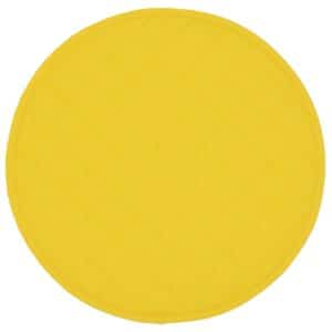 Sweet Pea Linens - Solid Bright Yellow Quilted Charger-Center Round Placemat (SKU#: R-1015-Y8) - Product Image