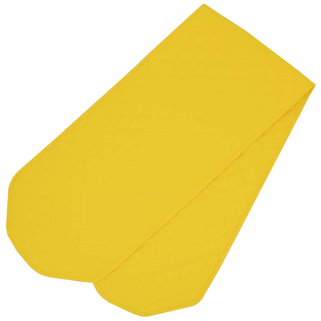 Sweet Pea Linens - Solid Bright Yellow Quilted 60 inch Table Runner (SKU#: R-1021-Y8) - Alternate Table Setting