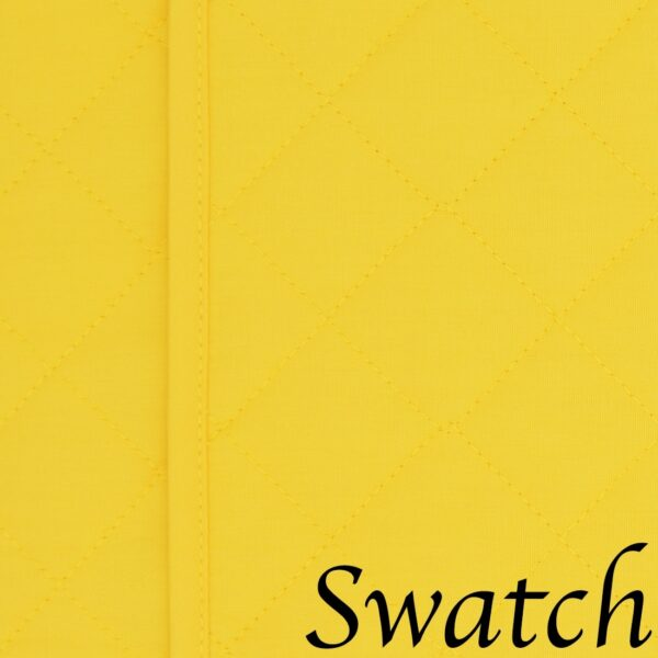Sweet Pea Linens - Solid Bright Yellow Quilted Rectangle Placemats - Set of Two (SKU#: RS2-1001-Y8) - Swatch