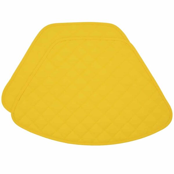 Sweet Pea Linens - Solid Bright Yellow Quilted Wedge-Shaped Placemats - Set of Two (SKU#: RS2-1006-Y8) - Product Image