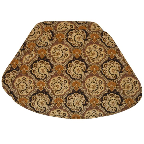 Sweet Pea Linens - Brown & Black Filigree Print Wedge-Shaped Placemats - Set of Two (SKU#: RS2-1006-Z2) - Product Image