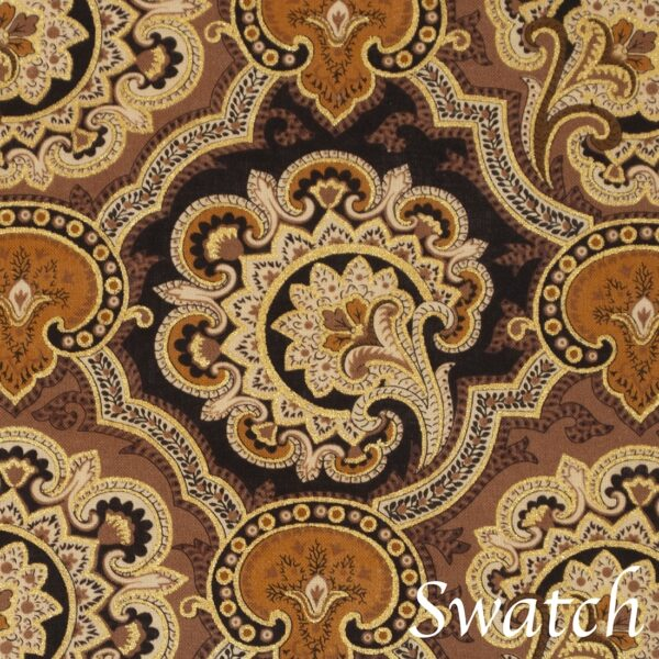 Sweet Pea Linens - Brown & Black Filigree Print Wedge-Shaped Placemats - Set of Two (SKU#: RS2-1006-Z2) - Swatch