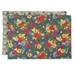 Sweet Pea Linens - Teal Green Tropical Print Rectangle Placemats - Set of Two (SKU#: RS2-1002-Z3) - Product Image