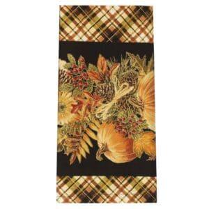 Sweet Pea Linens - Fall Harvest Plaid Cloth Napkin (SKU#: R-1010-Z40) - Product Image