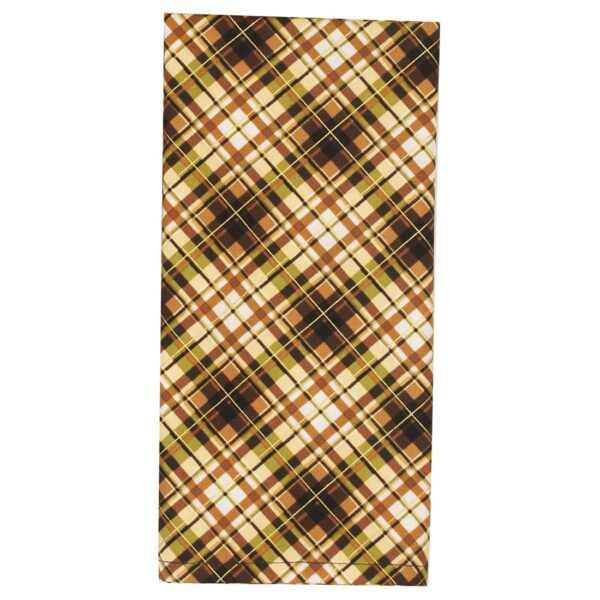 Sweet Pea Linens - Fall Plaid Cloth Napkin (SKU#: R-1010-Z41) - Product Image