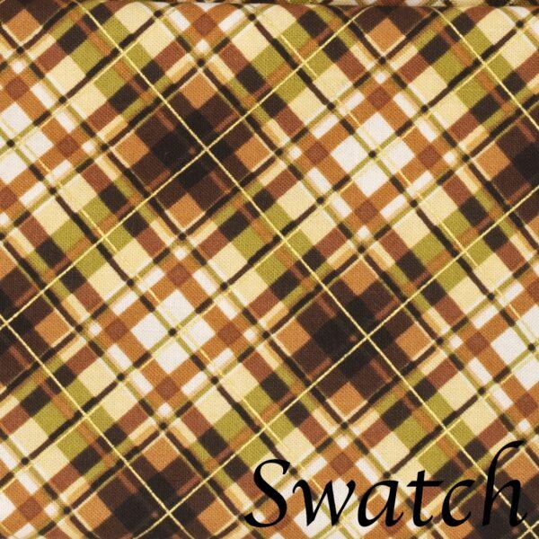 Sweet Pea Linens - Fall Plaid Cloth Napkin (SKU#: R-1010-Z41) - Swatch