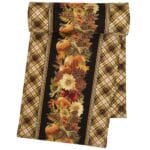Sweet Pea Linens - Fall Harvest Leaf Print 72 inch Table Runner (SKU#: R-1024-Z4) - Product Image