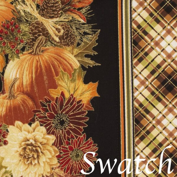 Sweet Pea Linens - Fall Harvest Leaf Print 72 inch Table Runner (SKU#: R-1024-Z4) - Swatch
