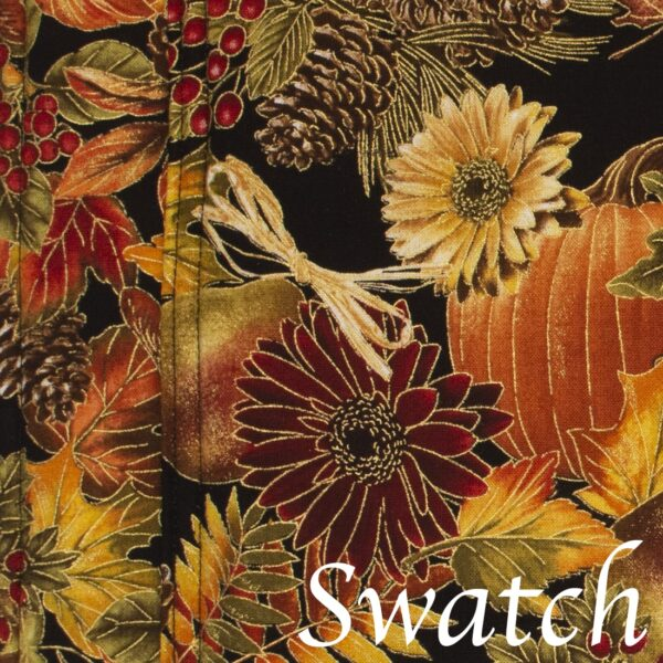 Sweet Pea Linens - Fall Harvest Leaf Print Rectangle Placemats - Set of Four plus Center Round-Charger (SKU#: RS5-1002-Z4) - Swatch